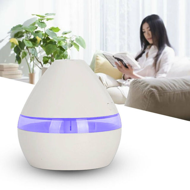 300ML Air Humidifier Essential Oil Diffuser wood grain Aromatherapy diffusers Aroma purifier MistMaker led light for Home 5