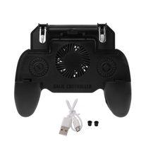 2 en 1 Juego de banco de potencia móvil gatillo L1R1 Joystick disparador Gamepad titular del teléfono de carga ventilador de 4000mAh
