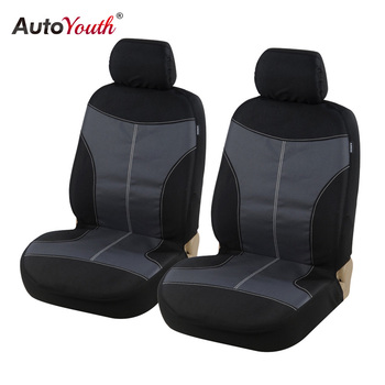AUTOYOUTH New Oxford cloth Front Seat Cover Universal Fit for Toyota Honda kia ford nissan Seat Covers Car Seat Protector Black image