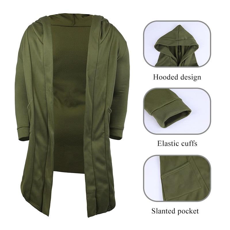 H35323c67cbb64702a4049836f6268b9dh Vintage Men Autumn Winter Hoodies Jacket Long Cardigan Coat Casual Hip Hop Solid Pocket Jacket Hooded Outwear Veste Homme