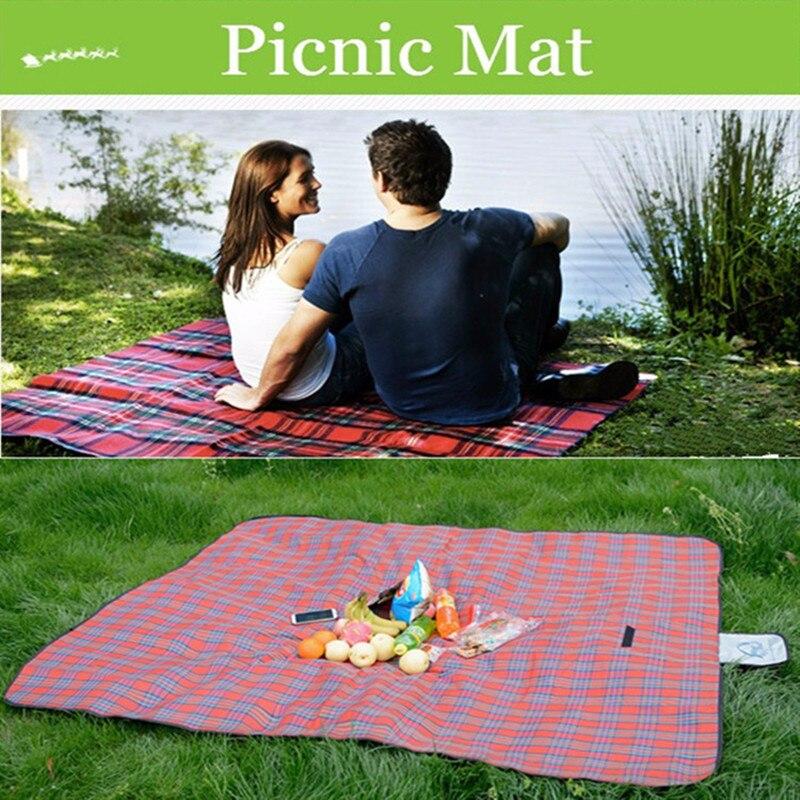 Oversized Picnic Mat Family Outdoor Carpet Tote Bag Folding Pad Mother's Parent-child Blanket Lattice Camping Mat Beach Mat