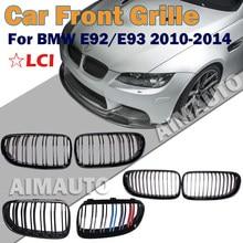 Новый передний бампер, решетка для радиатора, Спортивная решетка для BMW E92 E93 LCI 320i,328i,335i, 2010-2014, автомобильные аксессуары, сменная деталь