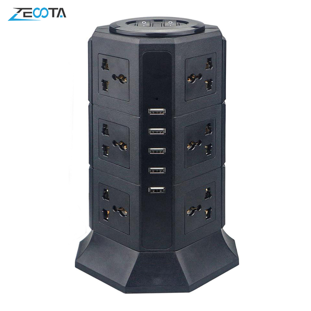Удлинитель USB вертикальный с защитой от перенапряжения, 8/12 дюйма, 6, 6 футов/2 м