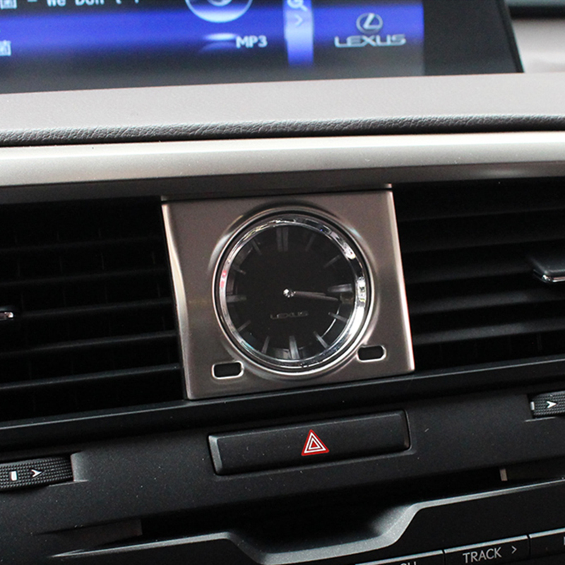 Car Center Console Clock Decoration Cover For <font><b>Lexus</b></font> RX300 RX450h <font><b>RX200t</b></font> 2015-2019 Car Styling Interior Modification <font><b>Accessories</b></font> image