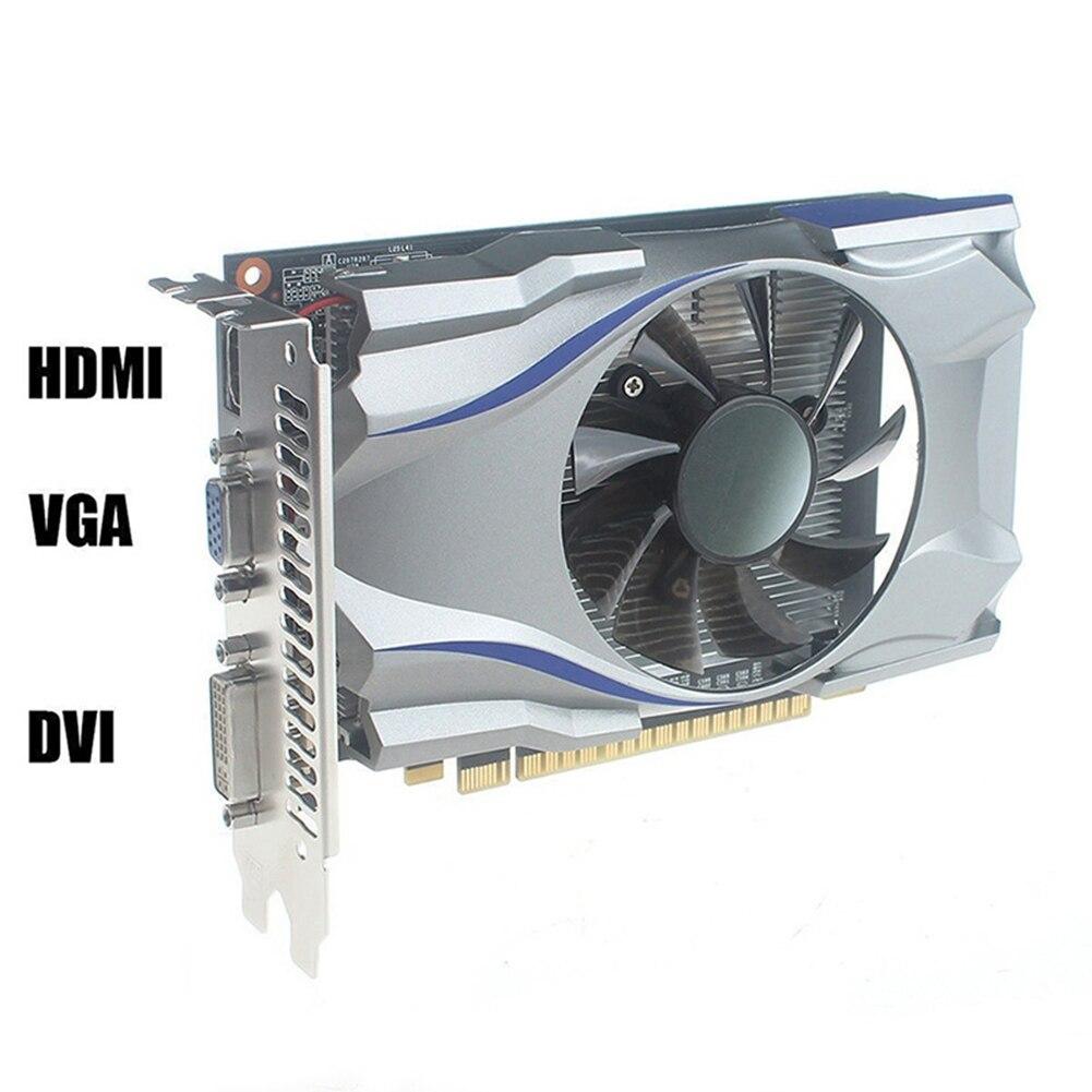 Carte vidéo utilisée Original GT730 DDR5 4G 128bit HDMI HD jeu vidéo carte graphique cartes vidéo pour ordinateur de bureau PC