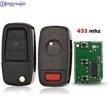 Jingyuqin télécommande 433mhz clé de voiture pliant pour Chevrolet Caprice pour Holden Commodore VE avec 3 + clé panique 4 boutons