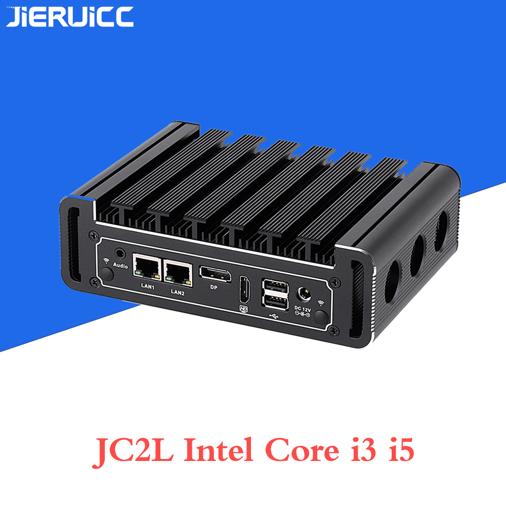 Fanless Minipc Mini Computer Core I3 7100u I5 7200u With Ddr4 Ram. M.2 Ssd,4 Usb3.0,2 Usb 2.0 Dual Display Hdmi.dp Port