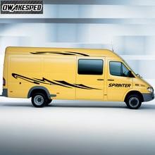 Racing Sport Streifen Auto Körper Decor Vinyl Aufkleber Für Mercedes Benz Sprinter Auto Tür Side Decals Außen Zubehör