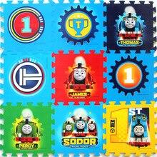 Thomas alfombrilla para gatear para niños, decoración de suelo para habitación infantil, protección de seguridad y medio ambiente