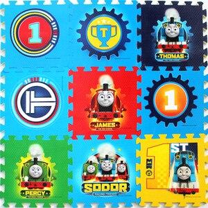 Image 1 - Thomas alfombrilla para gatear para niños, decoración de suelo para habitación infantil, protección de seguridad y medio ambiente