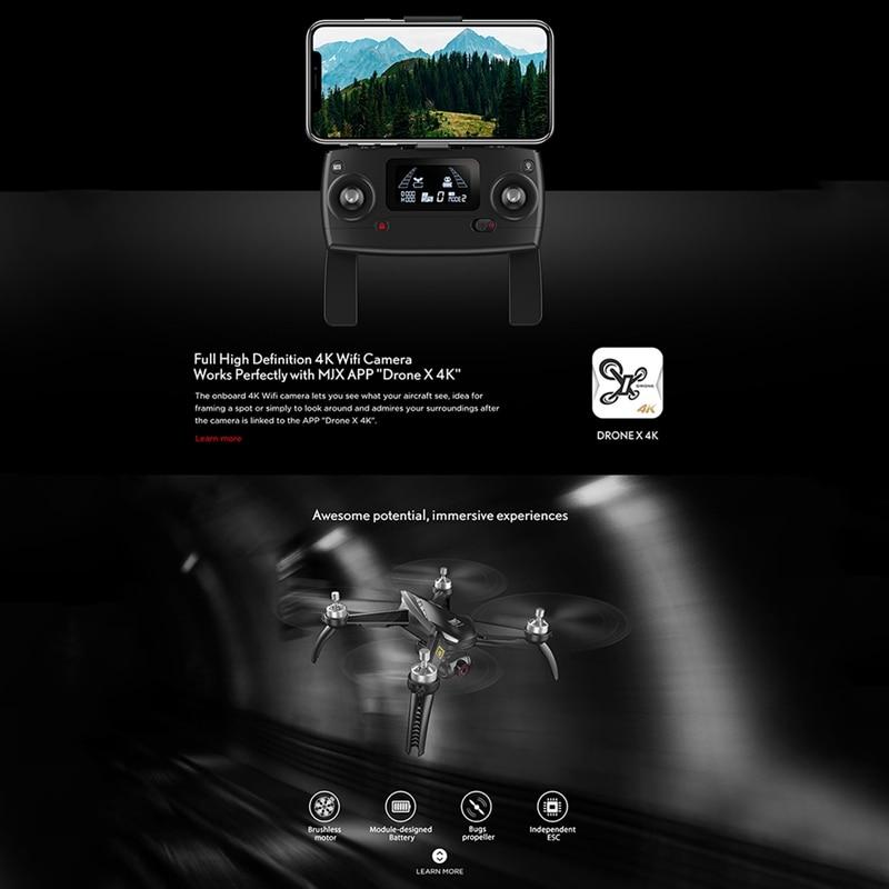 MJX B5W Upgrade 4k HD Luchtfotografie Borstelloze GPS Automatische Terugkeer Drone Lange Levensduur Afstandsbediening Speelgoed Quadcopter Vliegtuigen - 6