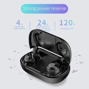 Image 3 - Auriculares TWS X9 V5.0 con Bluetooth, auriculares inalámbricos estéreo con micrófono Dual, auriculares a prueba de agua con cancelación de ruido y pantalla LED, caja de carga tipo c