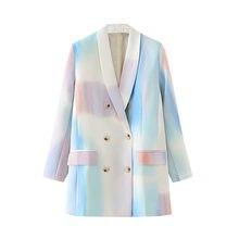 Осенней женской размера плюс пиджак Новый стиль с длинными рукавами