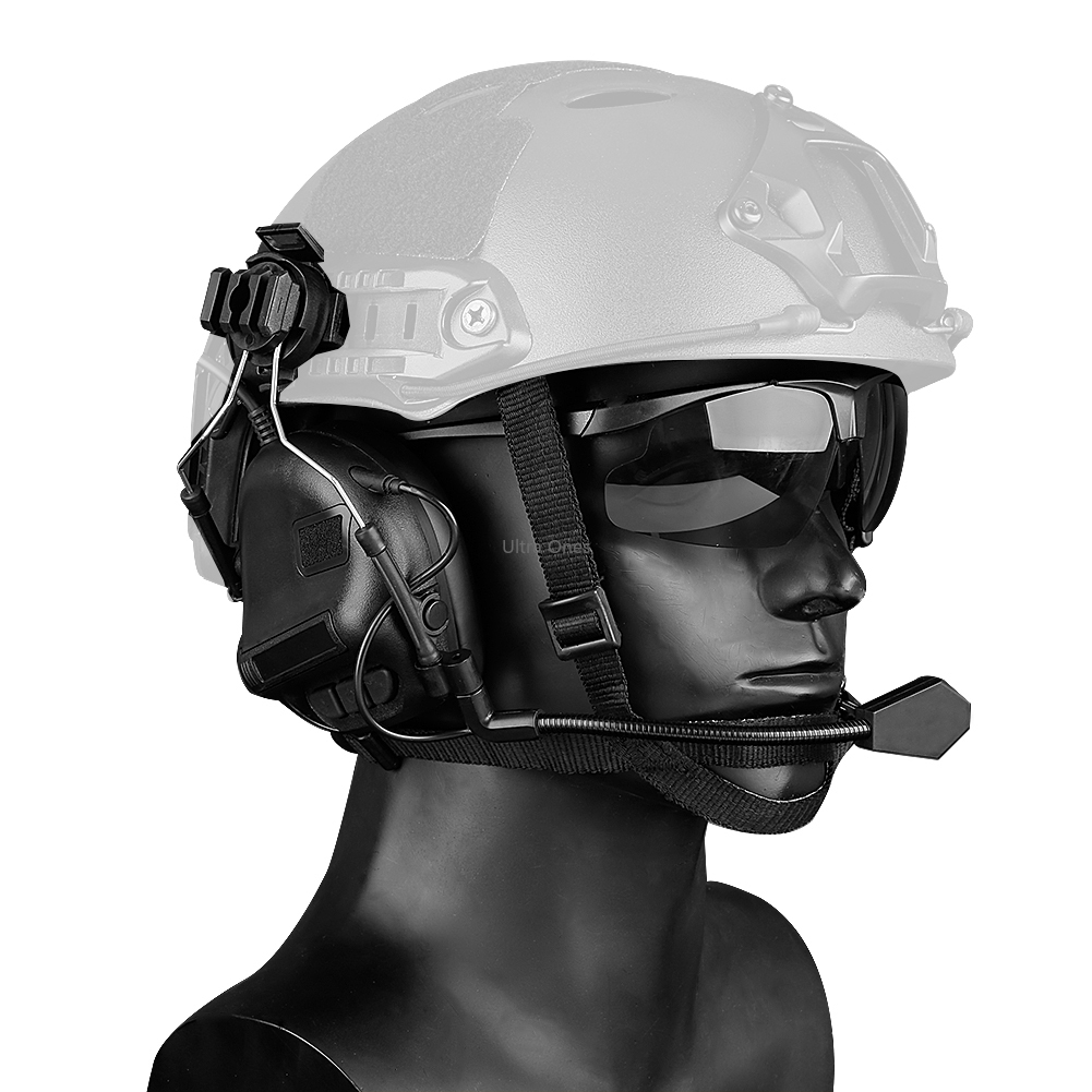 tactical headset airsoft exercito militar tiro paintball fones de ouvido combate cs wargame acessorios fone de
