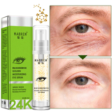 24k Golden Moisturizing Eye Serum Collagen Anti-Aging Face Serum Anti Puffiness Dark Circle Repair Tighten skin Around Eye TSLM1 недорого