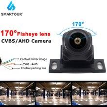 HD 1920*1080P Night Visionเลนส์Fisheyeสำรองข้อมูลย้อนกลับด้านหลังAHD CVBSกล้องสำหรับ2019 2020 Android DVD AHD Monitor