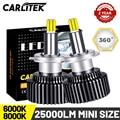 Светодиодные мини-лампы CARLITEK H11 H1 H7 для автомобильных фар 9012 9005 9006 H8 H9 H4, автомобильные фары, универсальные лампы HB4 HB3, супер-яркие на 360 °