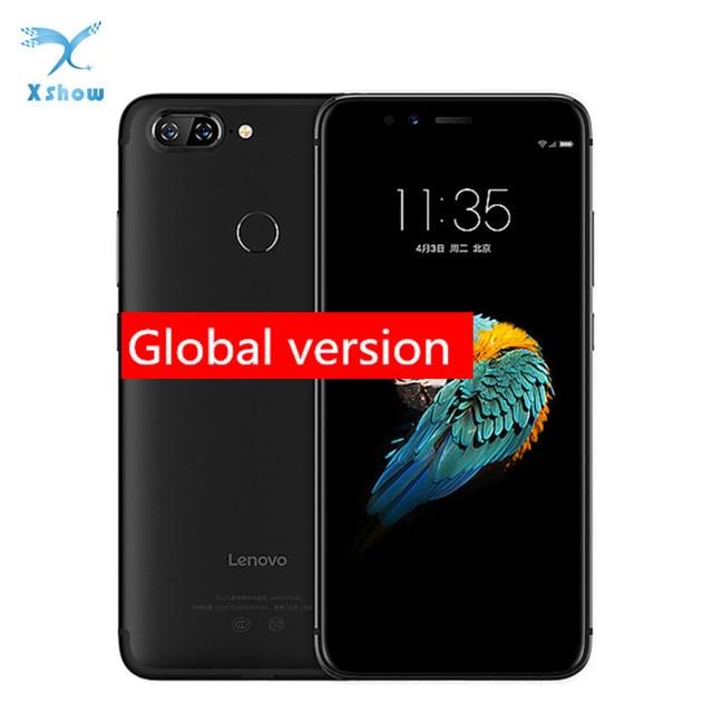 "Küresel sürüm Lenovo S5 K520 K520T Smartphone 4GB 64GB 5.7 ""18:9 cep telefonu Snapdragon 625 çift arka kamera parmak izi"