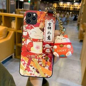 Image 3 - מזל חתול צמיד TPU מקרה טלפון נייד עבור סמסונג A72 A80 A90 מגן כיסוי עבור Note10 10pro 8 9 10 s20 סיליקון מקרי