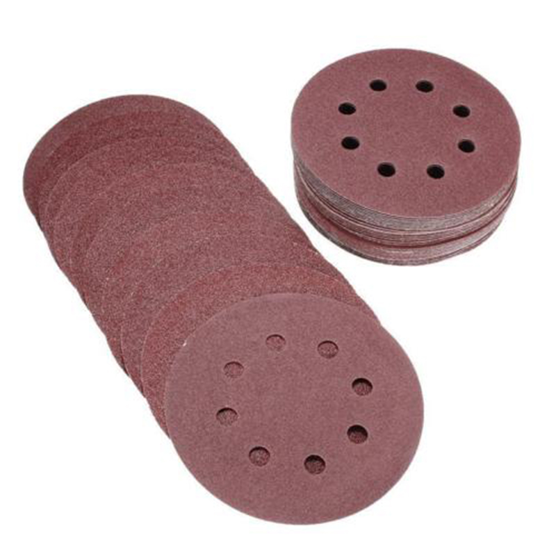 8 holes Sand Paper 5in / 125mm 800 1000 1500 2000 3000 Grit Sanding Discs Abrasive Tools  - AliExpress
