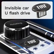 Carro usb flash drive 8gb 16gb 32gb 64gb 2.0 minúsculo armazenamento de memória u disco para fiat 500 grande-punto astra bravo panda tipo stilo