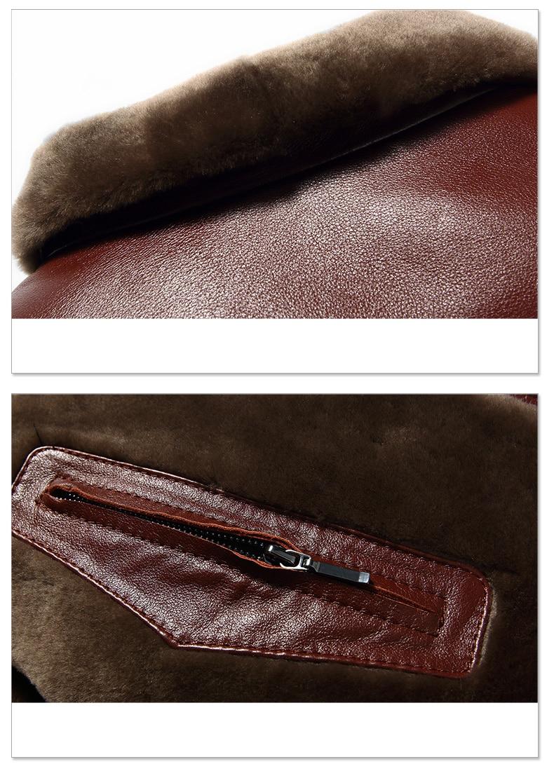 Men Genuine Leather jackets Brand 2019 New Men Wool Liner Winter Warm Coats Luxury Male Cow leather Outerwear