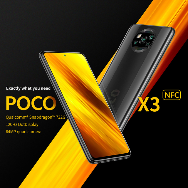 "POCO X3 6GB+64GB Xiaomi Smartphone Snapdragon 732G Octa Core 6.67"" Pocophone with 64MP Quad Camera FHD+ Display120Hz 5160mAh 2"