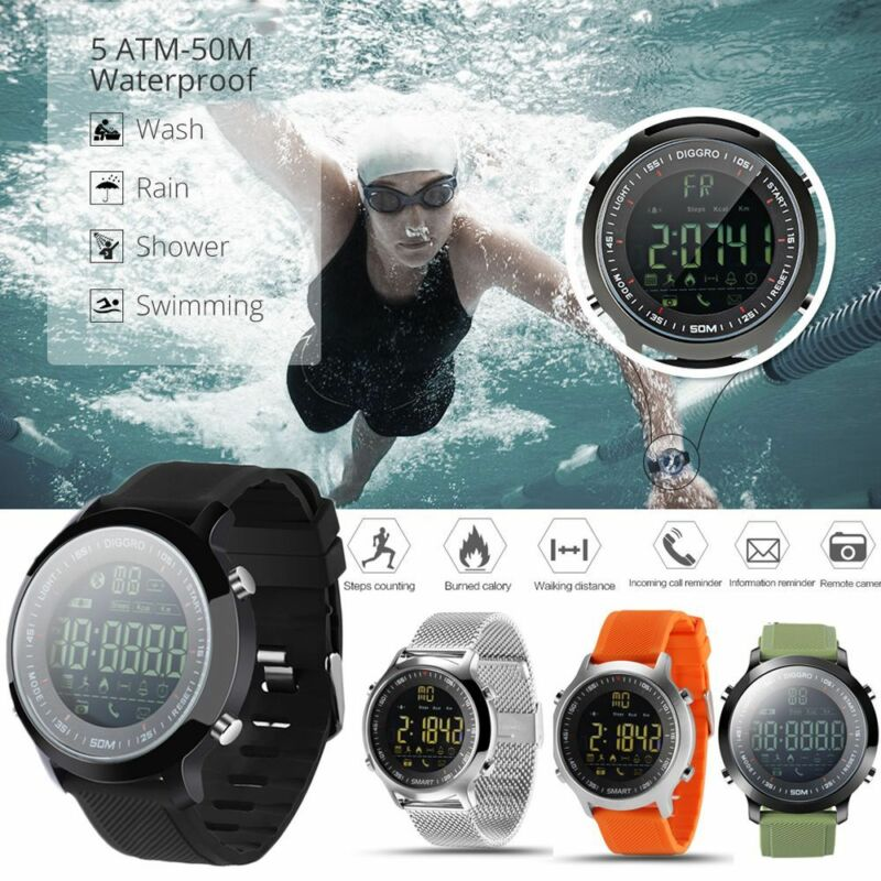 Bluetooth <font><b>EX18</b></font> SWIM Waterproof <font><b>Smart</b></font> <font><b>Watch</b></font> Pedometer Sport For Android iOS HQ image