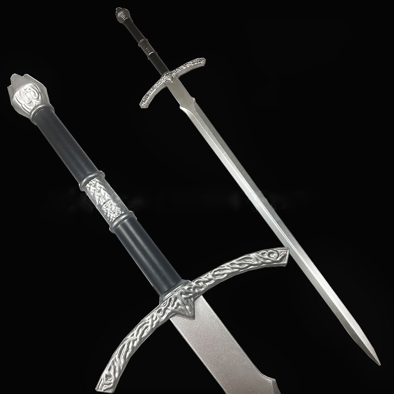 2019 Right Game Pu Weapon Props Sword Weapon Animation Simulation Long Sword Short Knife Cos Props Stage Tool Toys For Children