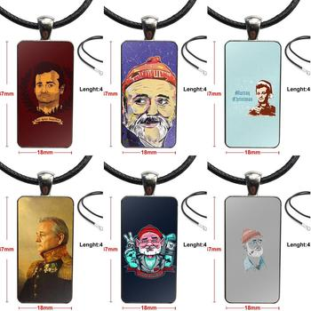 Actor Bill Murray For Women Fashion Necklace Handmade Rectangle Shape Choker Necklace Jewelry Multi Designs image