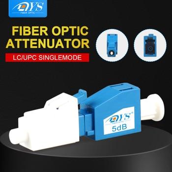 LC UPC Attenuator Fiber Optic female-male Plug-In Connector Plug type Single Mode Attenuator Adapter fc upc fiber adjustable attenuator 0 60db in line mechanical variable online type optical attenuator ftth singlemode