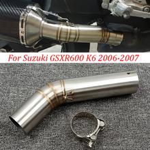 51mm dla Suzuki GSX R600 R750 K6 K7 K8 układy wydechowe motocykl wydechowy środkowy Link złącze tłumik motocyklowy Adapter rurowy tanie tanio LARATH CN (pochodzenie) 51inch 15inch 30inch Stainless Steel Exhaust Middle Link 0 55kg 20inch Exhaust Muffler Middle Link Pipe