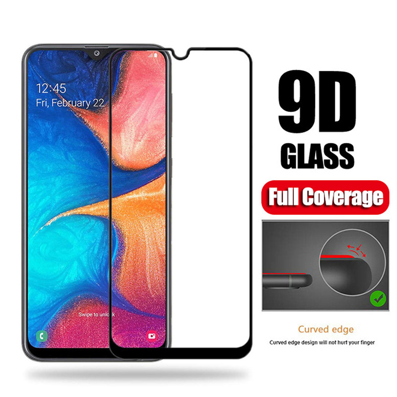 9D Full Cover Tempered Glass For Samsung Galaxy A20E A50 A30 Protective Glass On The SAM Galax A 20e 50 30 Screen Protector Film