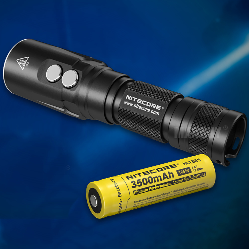 wholesale nitecore DL20 Diving Light + NL1834 Rechargeable Battery 1000 Lumen LED Flashlight Underwater 100 Meters FREE SHIPPING - 6