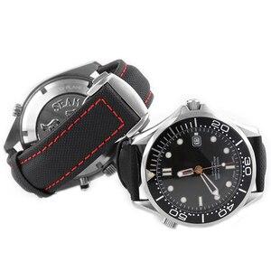 Image 3 - 19 20 มม.21 มม.22 มม.23 มม.หนังผ้าใบสำหรับ OMEGA นาฬิกาสำหรับ CITIZEN สำหรับ Carrera5 สำหรับ IWC สร้อยข้อมืออุปกรณ์เสริม