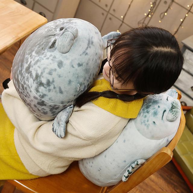 Fluffy Seal Pillow