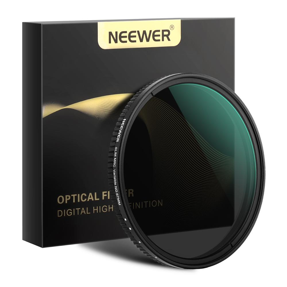 Neewer Variable Fader ND Filter Neutral Density Variable Filter ND2 To ND32 (1-5 Stop) For Camera Lens NO X Spot, Ultra-Slim