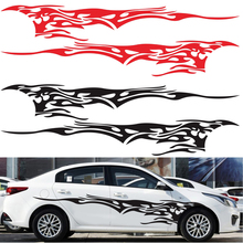 Stickers Car body vehicle sticker 1 Pair Graphics Decals Flame Fire Totem Car Auto Side Body Accessories small fire cloud figure car stickers multi color 10 pair pack