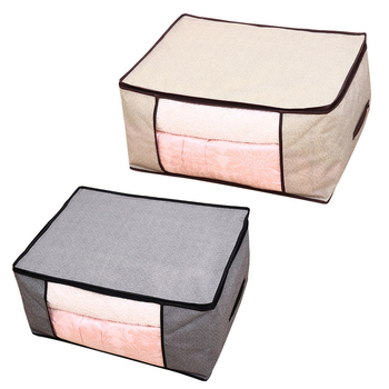 Portable Clothes Storage Box and Folding Quilt Storage Bag Made of Non Woven Material