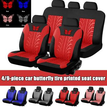 Universal Car Butterfly 3D Seat Covers Full Set Car Seat Protector Auto Seat Covers Polyester Fabric Universal Fits Most Cars