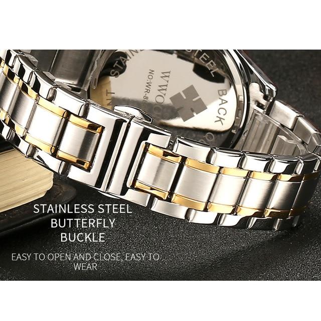 Stainless Steel Quartz Couples Watch Set 5