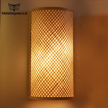 Chinese Classical Bamboo Garden Wall Lamps Bathroom Light Creative Living Room Bedroom Led Deco Mirror Light Wall Sconce Lamp