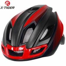 X-Tiger светильник для велоспорта, шлем для велосипеда, ультра-светильник, шлем для горной дороги, велосипедный шлем MTB, безопасный для мужчин и женщин