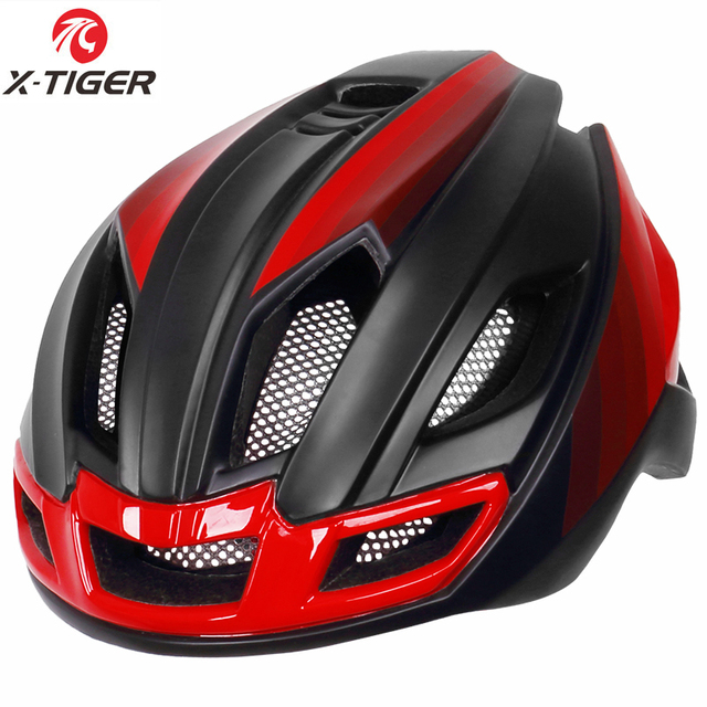 X-tiger luz ciclismo capacete da bicicleta ultraleve capacete intergralmente moldado mountain road bicicleta mtb capacete seguro das mulheres dos homens