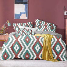 Luxury 2 Set Geometric Duvet Cover 220x240 Comforter Bedding Queen King Bed Linens Set 2/3pcs Double Bed Cover