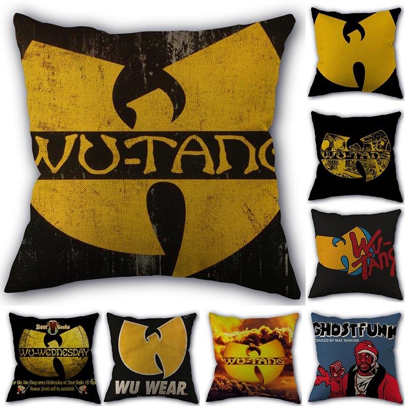 Custom Pillow Cover Wu Tang HOT SALE Square Zipper Cotton Linen Pillow Cases 45X45cm Bedroom Home Office Decorative Pillowcase