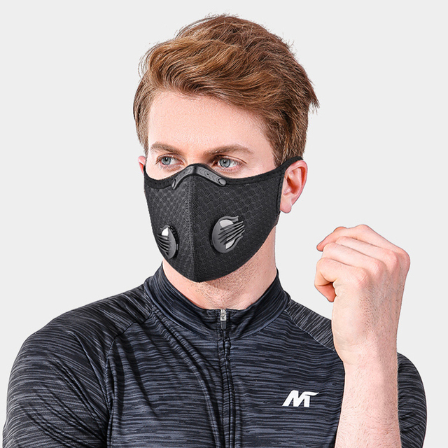 NO.ONEPAUL Dust masks activated carbon windproof mouth muffled anti-flu masks fashion black mask cotton mask facial respirator 5