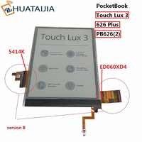 Lcd de 6 pulgadas y pantalla táctil con luz de fondo para PocketBook touch Lux 3 626 Plus 626 + 2GEN PB626 (2) -pantalla de matriz de lector D-WW