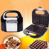1 Set 750W Waffle Maker Muffin Double side Heating Electric Cake Pan Breakfast Machine