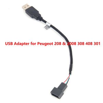 car radio USB Adapter Connector for Peugeot 208 & 2008 308 408 301 OEM Car Radio GPS Audio KEEP Original USB Function image